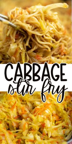 Stir fried cabbage and carrots with ramen noodles and homemade stir fry sauce Veggie Side Dishes, Vegetable Dishes, Side Dish Recipes, Vegetable Recipes, Asian Recipes, New Recipes, Vegetarian Recipes, Dinner Recipes, Cooking Recipes