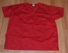 Scrubs and Beyond XL Red Top, Single Pocket, Men's, Woman's #ScrubsandBeyond