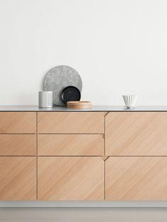 CecilieManz hacks IKEA kitchen using steel and warm-toned wood