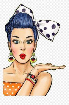 Pin Up Drawings, Cartoon Drawings, Cartoon Art, Images Pop Art, Pop Art Women, Pop Art Wallpaper, Pop Art Girl, Retro Girls, Arte Disney