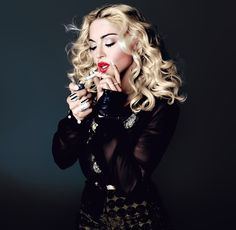 """Madonna in """"Art for Freedom!"""" / Photographed by Tom Munro / For L'Uomo Vogue May/June 2014"""
