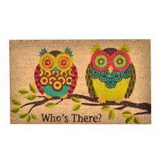 Rubber Owl Doormat at Kirkland's Front Door Mats, Front Door Decor, Front Porch, Owl Door, Owl Crochet Patterns, Welcome Mats, Decorative Accessories, Crochet Baby, Doormat