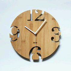 Cnc Wood Projects Wooden Clock 17 Ideas For 2019 Unique Wall Clocks, Wood Clocks, Router Projects, Wood Projects, Woodworking Toys, Woodworking Projects, Woodworking Classes, Youtube Woodworking, Woodworking Equipment