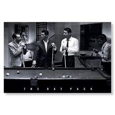 The RAT PACK Poster Print Frank Sinatra Dean Martin Pool Billiards 24x36 NEW