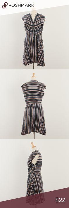 "[BB Dakota] striped button up dress excellent condition  Bust - 20"" Length - 37""  J1 BB Dakota Dresses"