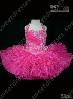 Halter Top Little Rosie Cupcake Dress Lovely Little Rosie hot pink Glitz Toddler Pageant Dress
