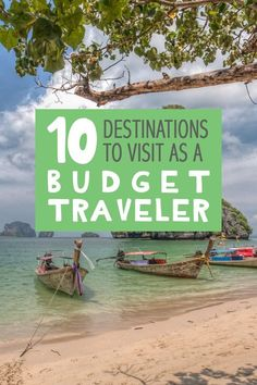 The world is full of affordable destinations, and it doesn't require much effort to find them. No matter what continent, there are always places you can visit on a budget!