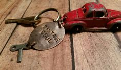 Check out this item in my Etsy shop https://www.etsy.com/listing/213675653/red-tootsietoy-vintage-car-keychain