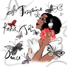 Josephine Baker by Lucy Truman Illustration - Professional Illustrator, Greeting Cards