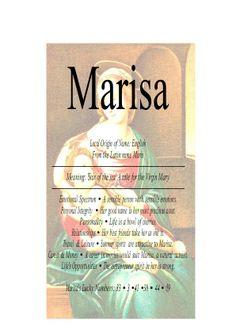 Marisa, Risa, Maris, Maria - Firstnamestore