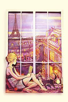 A Window to Paris  ... I wish this was me <3