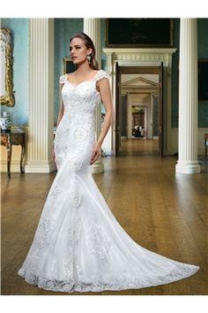Straps Zipper-up Court Chic & Modern Sleeveless Trumpet/Mermaid Natural Summer Wedding Dress