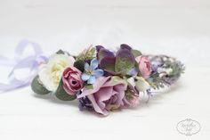 Lavender eucalyptus flower crown Flower halo Bridal by ByKochetova