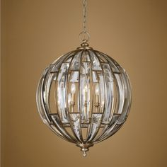 40 best uttermost lighting fixtures images on pinterest chandelier uttermost vicentina 6 lt pendant a statement of sumptuous elegance a sphere of beveled aloadofball Image collections