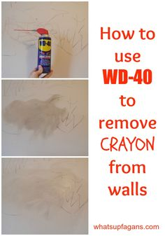 1000 images about home cleaning on pinterest toilet bowl stains shower mold and bath fizzies - Remove crayon walls ...