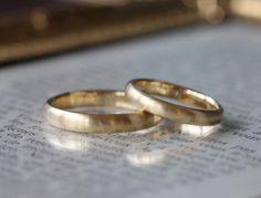 つや消しゴールドの結婚指輪(オーダーメイド/手作り) [マリッジリング,ウェディング,marriage,wedding,bridal,ring,K18,Gold,]