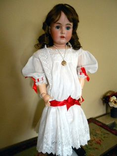 """Early Kestner Large Bisque Doll - 32"""" Tall"""