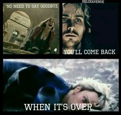 """""""No Need To Say Goodbye You'll Come Back When It's Over."""" Marvel xBlueAvenue"""