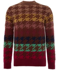 Paul Smith Mainline Pink Houndstooth Knit Jumper Liberty.co.uk