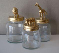 Gold storage jars.