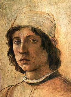 Fillipino Lippi, 1485 Artist Self Portraits in the Uffizi's Vasari Corridor, Florence