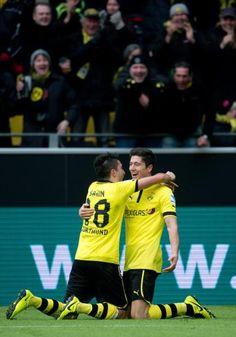Die beiden Männer des Spiels: Robert Lewandowski und Nuri Sahin.
