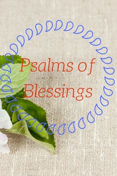 Psalms of Blessings | Mary-andering Creatively