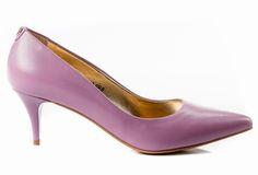 Buty SIMONE Liliowa Skóra Niskie 595 k777 Stiletto Heels, Kitten Heels, Pumps, Shoes, Fashion, Choux Pastry, Moda, Zapatos, Shoes Outlet