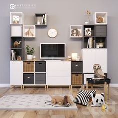 Newest Photo EKET_set for children's room Thoughts The IKEA Kallax collection… - Zimmereinrichtung Girl Room, Ikea Bedroom, Ikea Kids, Children Room Girl, Eket, Ikea, Home, Ikea Living Room, Room