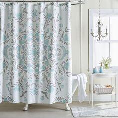 LC Lauren Conrad Carina Medallion Shower Curtain Blue