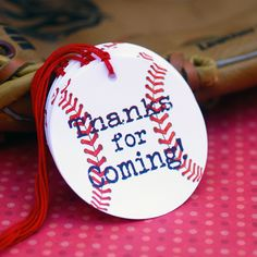 Baseball Themed Party Favor Tags - set of 20. $7.50, via Etsy.