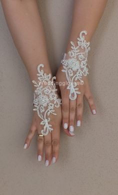 İvory Wedding Glove ivory lace gloves Fingerless by WEDDINGGloves, $30.00