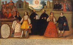 Image result for pintura colonial cuzqueña terremoto de 1650
