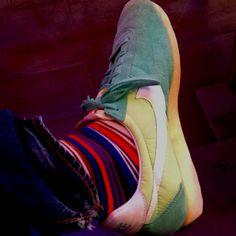 Kicks and socks.