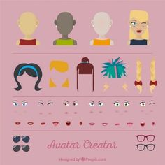 Female Avatar Vectors, Photos and PSD files Vector Creator, Female Avatar, Cute Art, Vector Free, The Creator, Digital, Projects, Prints, Woman