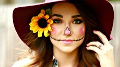 EASY DIY HALLOWEEN SCARECROW MAKEUP TUTORIAL | MADISON BROOKER