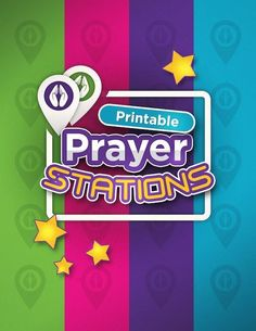 Printable Prayer Stations- Great for Youth Ministries, Sunday School, Outreach, and Home! Teach Kids How to Pray in a Fun Way! Sunday School Games, Sunday School Classroom, Sunday School Lessons, Sunday School Crafts, Prayer Ministry, Youth Ministry, Ministry Ideas, Children Ministry, Prayer Crafts