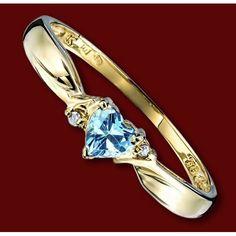 f7d30d5ce8bc Anillo de Oro y Diamantes   CORAZÓN AZUL