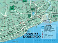 Map of Santo Domingo, República Dominicana