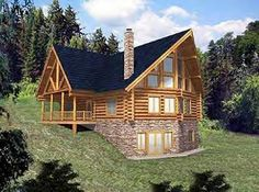 two story house plan with walkout basement | Walkout Basement House Plans on Sloping Lot Walkout Basement House ...
