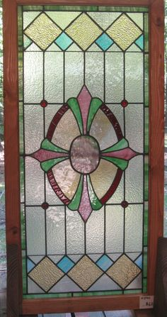 Engaging Home Interior Furnishing With Antique Stained Glass Doors :  Fetching Image Of Furniture For Home