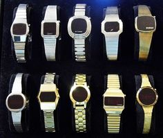 Vintage Women's LED Watches, Circa 1970s