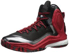 adidas Men's D Rose 5 Boost Basketball Shoe, Black/Scarlet/White, 9.5 M US *** FIND OUT @ http://www.zeldarecommend.com/sportswear/10063/?331