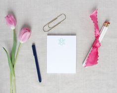 Two Letter Interlocking Small Notepad | Meredith Collie Paper