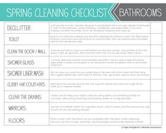 Craftaholics Anonymous® | Spring Cleaning Checklists Printable