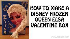 How to Make a Princess Elsa Valentine's Day Box #elsa #valentine #frozen