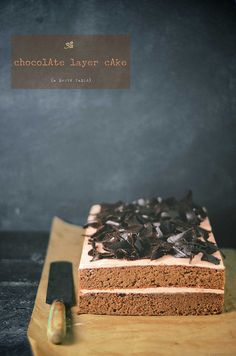 chocolate genoise layer cake with raspberry swiss buttercream frosting by abrowntable, via Flickr