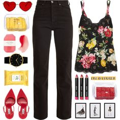 i'm a rebel just for kicks now by typicalgemini on Polyvore featuring moda, Dolce&Gabbana, Eve Denim, Larsson & Jennings, Bobbi Brown Cosmetics, Burt's Bees, Pelle, Frontgate and Lindt