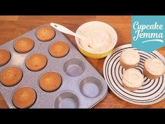 Salted Caramel Cupcake Sponge Recipe   Cupcake Jemma - YouTube