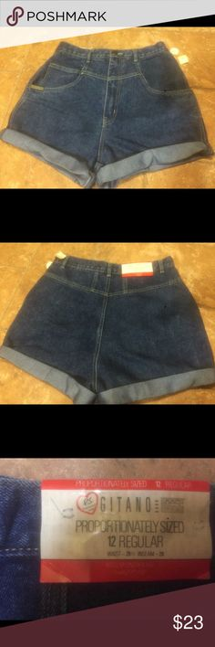 MAKE OFFER....High waist style Shorts. Size 12 New with tag Gitano Dresses Mini